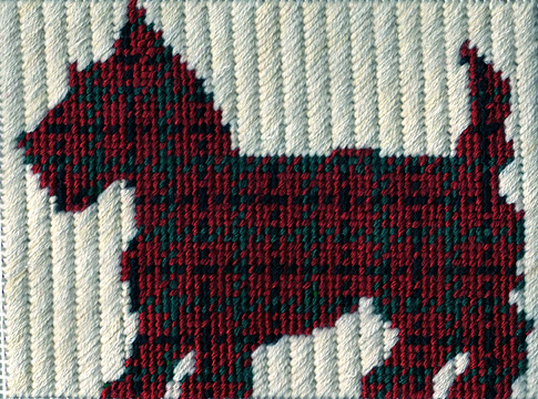 plaid scottie dog silhouette