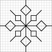 needlepoint blackwork pattern free of snowflake