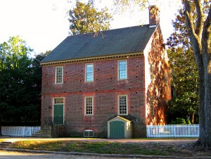 colonial williamsburg brick house