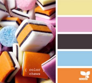 allsorts  (candy) color pallette