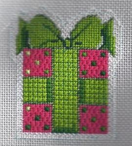needlepoint mary engelbreit ornament stitched with sublime floss by needlepoint expert janet m. perry