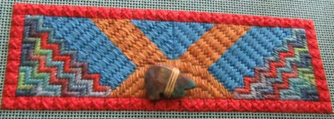 Zuni Sunset needlepoint, Toni Ged4es design
