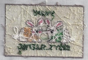 back of stitched needlepoint by Kathy Schenkel
