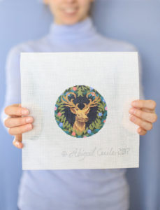abigail cecile stag needlepoint canvas