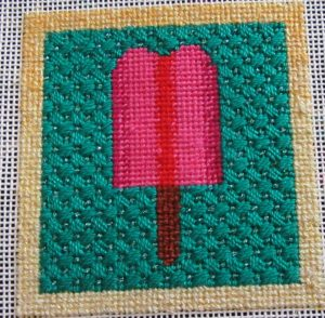 Popsicle needlepoint by little bird designs