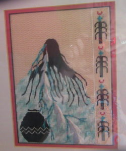 Tish Indian lady needlepoint